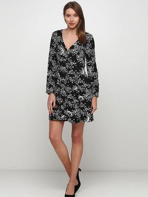 Сукня чорна в принт | 5658783