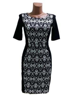 Сукня чорно-біла з орнаментом | 5658798