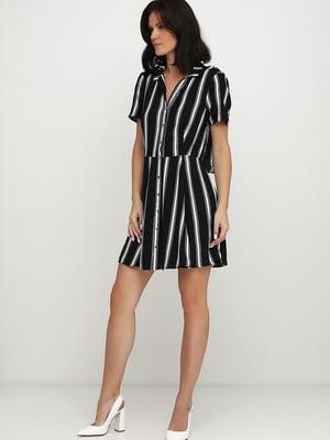 Платье черное в полоску | 5658840
