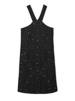 Платье черное с орнаментом | 5658841