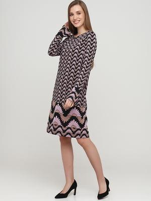 Платье черное с орнаментом | 5658856