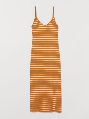 Сукня коричневого кольору в смужку | 5658887