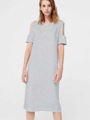 Сукня біла в смужку | 5658914