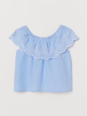 Платье голубого цвета в полоску   5658944
