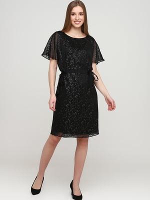 Платье черное с узором | 5658952