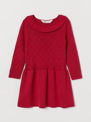 Платье красного цвета с декором   5658965