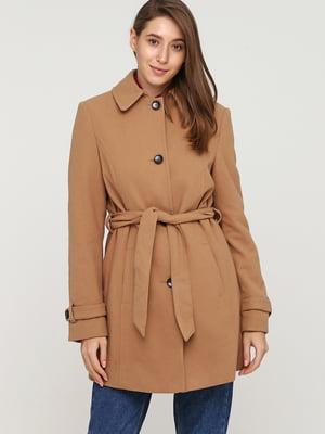 Пальто бежевого кольору | 5659032