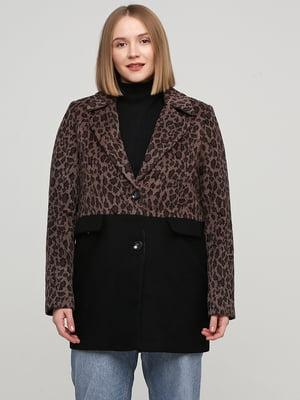 Пальто коричневого кольору в анімалістичний принт | 5659036