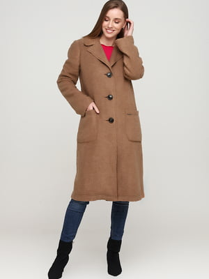Пальто коричневого кольору | 5659037