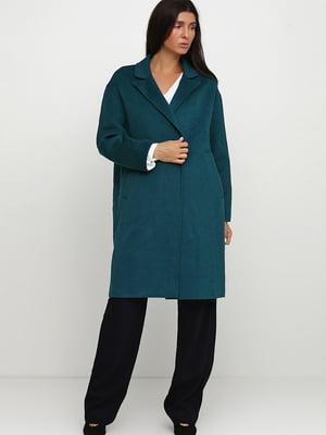 Пальто бірюзового кольору | 5659044