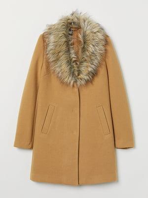 Пальто бежевого кольору | 5659052