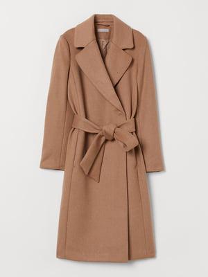 Пальто коричневого кольору | 5659054
