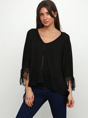 Блуза-накидка чорна | 5659067