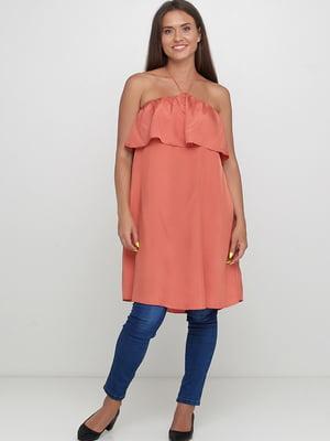 Блуза-туника кирпичного цвета | 5659097