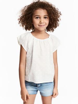 Блуза белая с декором | 5659113