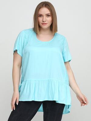 Блуза блакитного кольору | 5659116