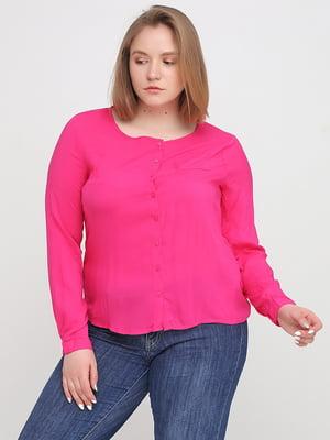 Блуза-рубашка малинового цвета   5659118