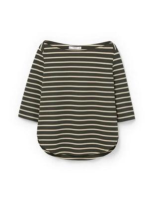 Блуза коричневого цвета в полоску   5659142