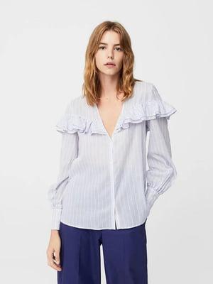 Рубашка сиреневого цвета в полоску | 5659147