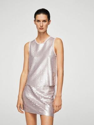 Блуза-топ фиолетовая с декором | 5659186