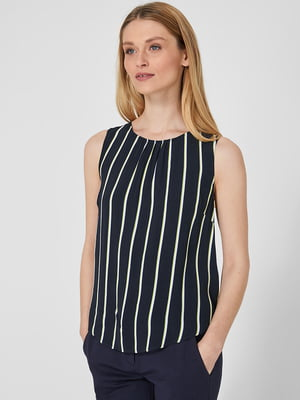 Блуза синяя в полоску | 5659198