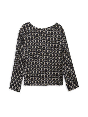 Блуза черная с орнаментом | 5659243