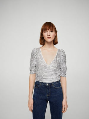 Блуза серебристого цвета   5659252