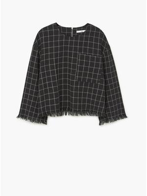 Блуза черная в клетку | 5659305