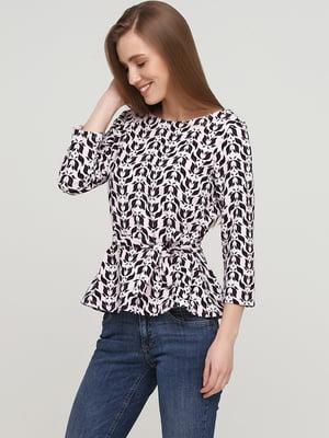 Блуза розового цвета в принт | 5659334