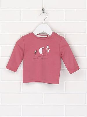 Лонгслив розового цвета с рисунком | 5659356