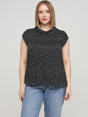 Блуза черная в принт | 5659370