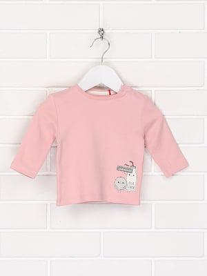 Лонгслив розового цвета с рисунком | 5659376