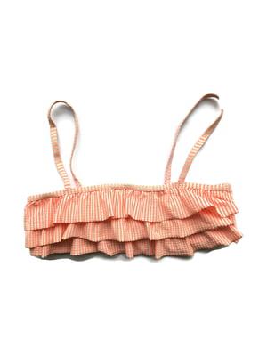 Бюстгальтер купальний персикового кольору в смужку | 5659577
