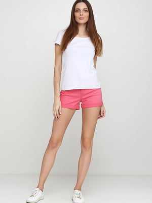 Шорты джинсовые розового цвета   5659612