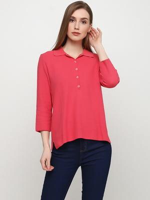 Лонгслив-поло розового цвета | 5659656