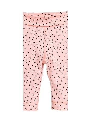 Ползунки розового цвета в принт | 5660055