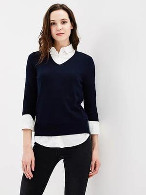 Пуловер синий | 5660242