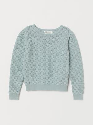 Джемпер бирюзового цвета с узором | 5660274