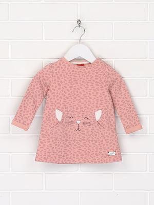 Джемпер розового цвета в анималистический принт и с рисунком | 5660338