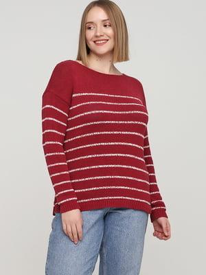 Джемпер рожевого кольору в смужку | 5660358