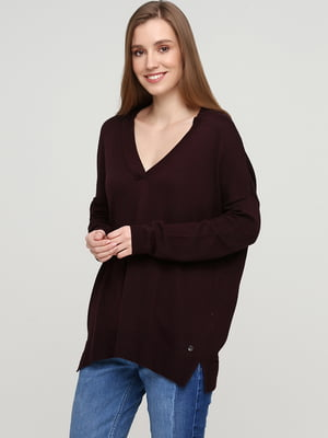 Пуловер бордовый   5660381