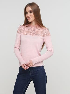 Блуза розового цвета с декором | 5660408
