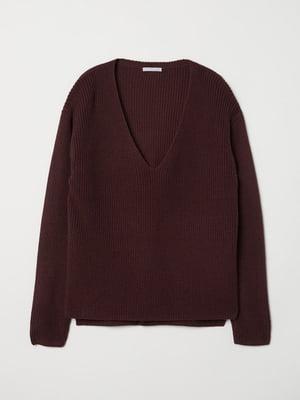Пуловер бордовый   5660411