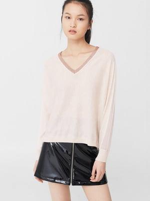 Пуловер бежевого кольору | 5660420