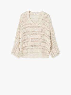 Пуловер бежевого кольору | 5660426