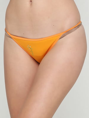Труси морквяного кольору з квітковим малюнком | 5660476