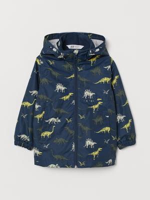 Куртка синяя в принт | 5660497
