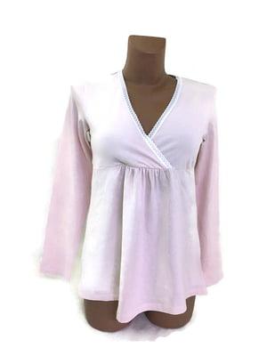 Лонгслів для вагітних домашній рожевий | 5660606