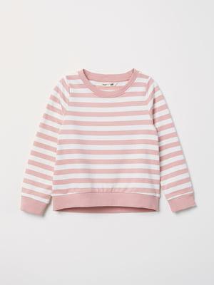 Свитшот розового цвета в полоску | 5660870