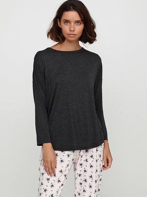 Лонгслив пижамный серый   5660939